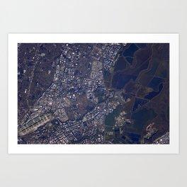 198. Space Station Flyover of Super Bowl 50 Art Print