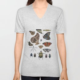 My Museum: Beetles, Bugs, and Butterflies Unisex V-Neck