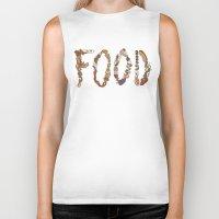 food Biker Tanks featuring FOOD by Brinny Langlois
