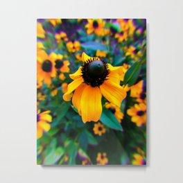 Trippy Sunflower Metal Print