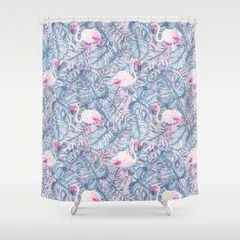 Aloha Flamingo Pattern Shower Curtain