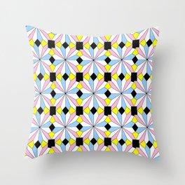 symetric patterns 22-mandala,geometric,rosace,harmony,star,symmetry Throw Pillow