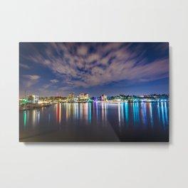 The Harbor from the Via Lido Bridge Metal Print