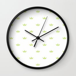 Green Crown pattern Wall Clock