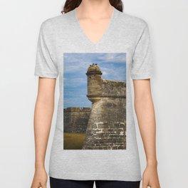Castillo de San Marcos Unisex V-Neck