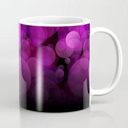 Purple light abstract bokeh background Coffee Mug