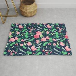 Pretty floral pattern. Sweet Pea. Rug
