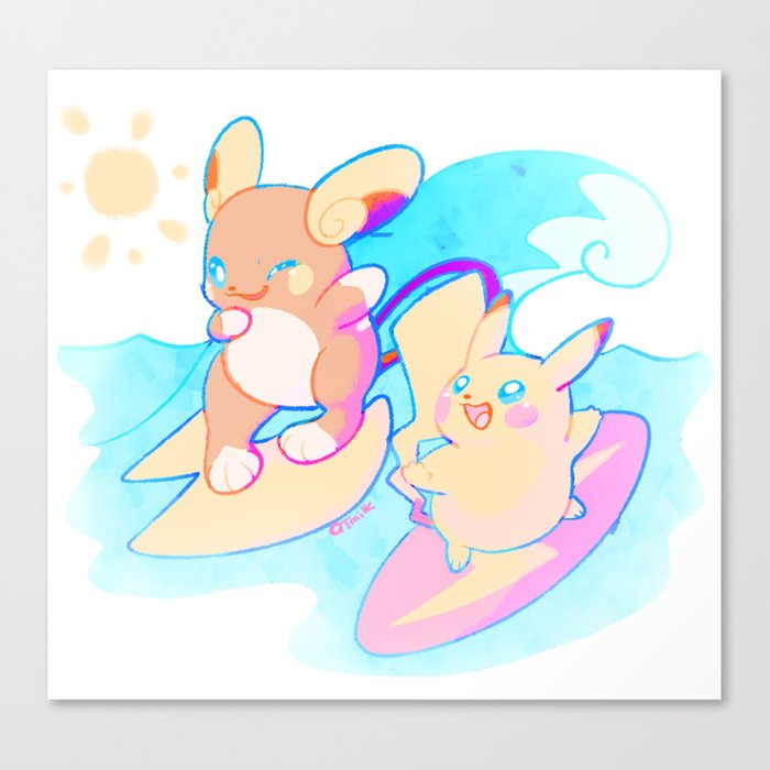 5aa34ab2c Alola-chu! Canvas Print by luvlymilk | Society6