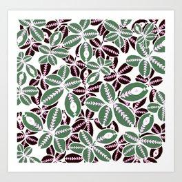 Witch's Maranta Plant Art Print