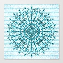 Stripped Mandala Canvas Print