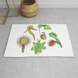 Carnivorous Plant Collection Rug