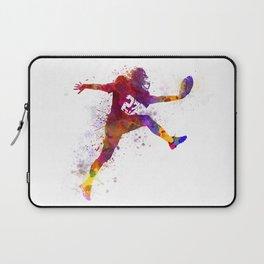 american football player man scoring touchdown Laptop Sleeve