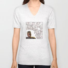 Ability to inflict papercuts with mind Unisex V-Neck