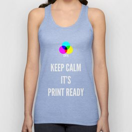 Print Ready Dark Unisex Tank Top