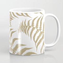Fern Leaves Pattern - Golden Dream #2 #ornamental #decor #art #society6 Coffee Mug
