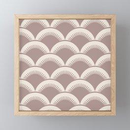 Japanese Fan Pattern Beige 2 Framed Mini Art Print