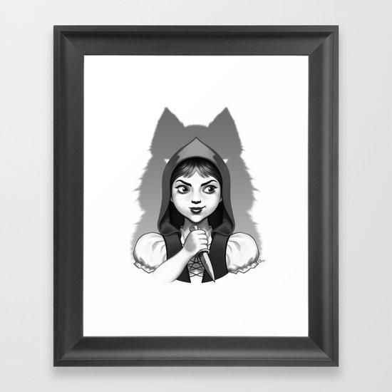Little Red Riding Hood's Surprise Framed Art Print