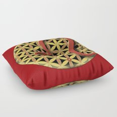 Flower of Life LEO Astrology Design Floor Pillow