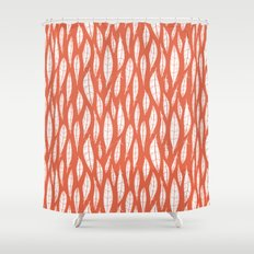 Quail Feathers (Poppy) Shower Curtain