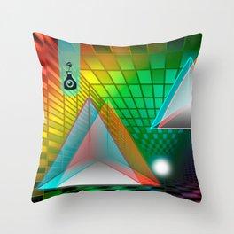 Rainbow triangle Throw Pillow