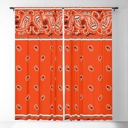 Classic Orange Bandana Blackout Curtain