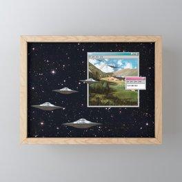 Ctrl+Alt+Del // Returning UFOs Framed Mini Art Print