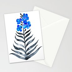 Blooming Orchid – Blue & Black Palette Stationery Cards