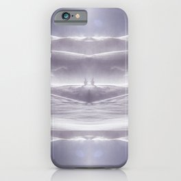 lavender ice lake landscape iPhone Case
