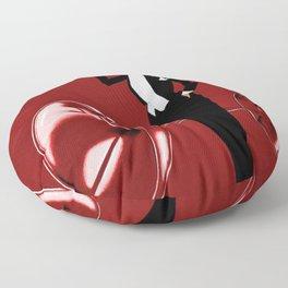 Vintage Champagne Red Veuve A. Devaux, Paris, France Jazz Age Roaring Twenties Advertisement Poster Floor Pillow