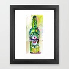 Heineken Beer, Happy Friday Framed Art Print