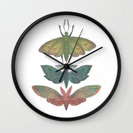Saturn Moths Wall Clock