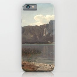 Hans Gude Painting -  Landskap Fra Drachenwand Ved Mondsee 1870  | Reproduction | Norwegian Art iPhone Case
