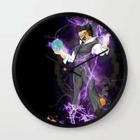 tesla Wall Clocks featuring DBZ Tesla by Hushy