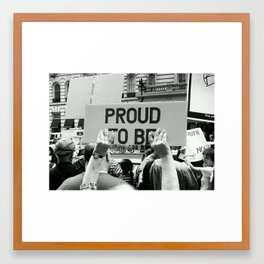 PROUD 2 B. Framed Art Print