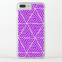 Dark violet - violet - Geometric Seamless Triangles Pattern Clear iPhone Case