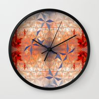 blues brothers Wall Clocks featuring Brothers by Mandy Becker