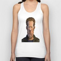 tom waits Tank Tops featuring Celebrity Sunday ~ Tom Waits by rob art | illustration