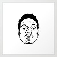 chance the rapper Art Prints featuring Chance the Rapper  by tumblrian