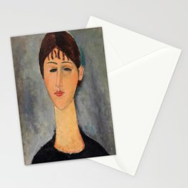 Amedeo Modigliani - Portrait Of Mme Zborowska - Digital Remastered Edition Stationery Cards