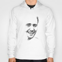tom hiddleston Hoodies featuring Tom Hiddleston by Cécile Pellerin