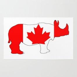 Rhinoceros Canada Rug