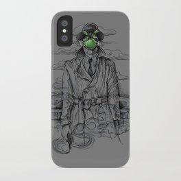 Magritte Noir iPhone Case