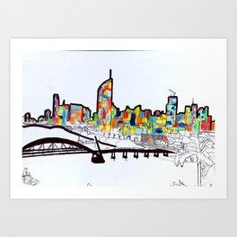 BRISBANE POSTCARD SERIES 009 Art Print