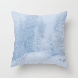 Frozen trees Throw Pillow