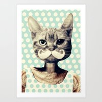 kitten Art Prints featuring Kitten by zumzzet