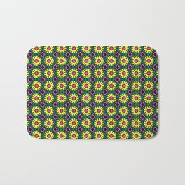 Dainty Yellow Flowers with Hot Pink Pistil Bath Mat