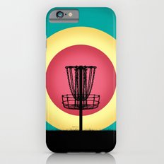 Disc Golf Basket Silhouette iPhone 6 Slim Case