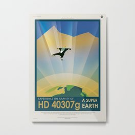 Super Earth Metal Print