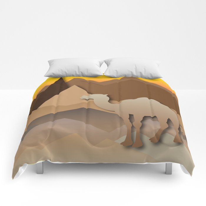 Desert Mountains Comforters