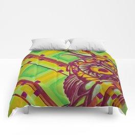 Green Owl Comforters